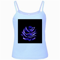 Rose Flower Design Nature Blossom Baby Blue Spaghetti Tank