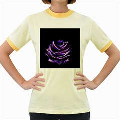 Rose Flower Design Nature Blossom Women s Fitted Ringer T Shirts