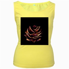 Rose Flower Design Nature Blossom Women s Yellow Tank Top