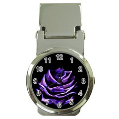 Rose Flower Design Nature Blossom Money Clip Watches