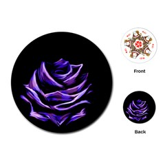 Rose Flower Design Nature Blossom Playing Cards (Round)