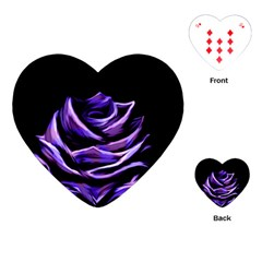Rose Flower Design Nature Blossom Playing Cards (Heart)