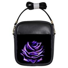 Rose Flower Design Nature Blossom Girls Sling Bags