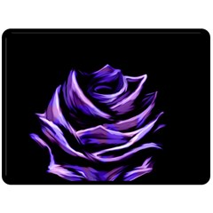 Rose Flower Design Nature Blossom Fleece Blanket (Large)