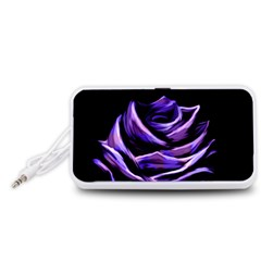 Rose Flower Design Nature Blossom Portable Speaker (White)