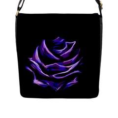 Rose Flower Design Nature Blossom Flap Messenger Bag (L)