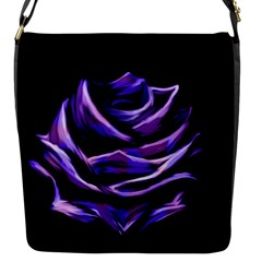 Rose Flower Design Nature Blossom Flap Messenger Bag (S)