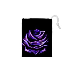 Rose Flower Design Nature Blossom Drawstring Pouches (XS)