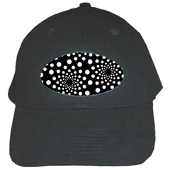 Dot Dots Round Black And White Black Cap