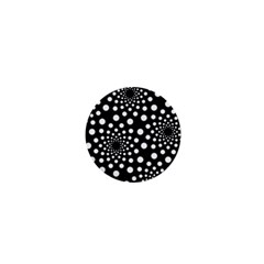 Dot Dots Round Black And White 1  Mini Buttons
