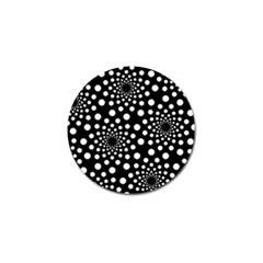 Dot Dots Round Black And White Golf Ball Marker (4 pack)