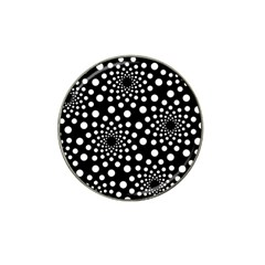Dot Dots Round Black And White Hat Clip Ball Marker