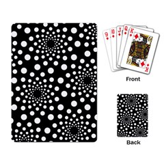 Dot Dots Round Black And White Playing Card