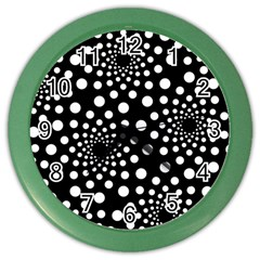 Dot Dots Round Black And White Color Wall Clocks