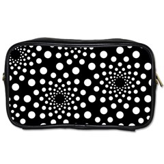 Dot Dots Round Black And White Toiletries Bags 2-Side