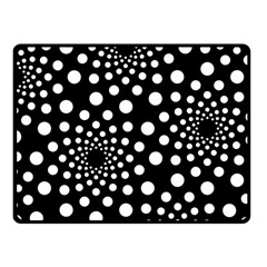Dot Dots Round Black And White Fleece Blanket (Small)