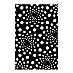 Dot Dots Round Black And White Shower Curtain 48  x 72  (Small)