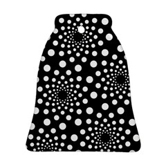 Dot Dots Round Black And White Ornament (Bell)