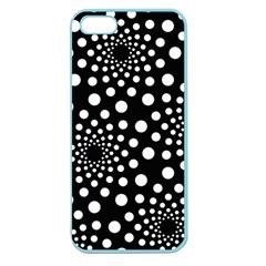 Dot Dots Round Black And White Apple Seamless Iphone 5 Case (color)