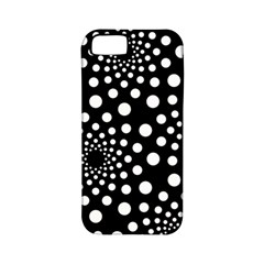Dot Dots Round Black And White Apple Iphone 5 Classic Hardshell Case (pc+silicone)