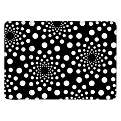 Dot Dots Round Black And White Samsung Galaxy Tab 8.9  P7300 Flip Case