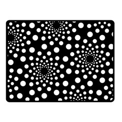 Dot Dots Round Black And White Double Sided Fleece Blanket (small)