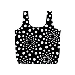 Dot Dots Round Black And White Full Print Recycle Bags (S)