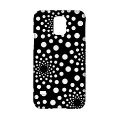 Dot Dots Round Black And White Samsung Galaxy S5 Hardshell Case