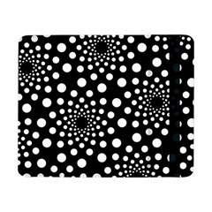Dot Dots Round Black And White Samsung Galaxy Tab Pro 8 4  Flip Case