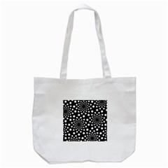 Dot Dots Round Black And White Tote Bag (white)