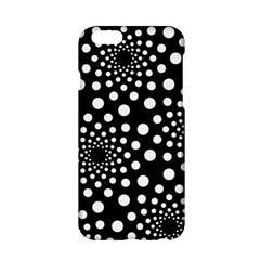 Dot Dots Round Black And White Apple iPhone 6/6S Hardshell Case