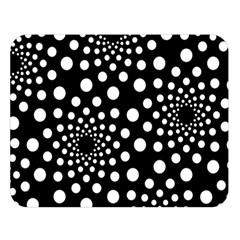 Dot Dots Round Black And White Double Sided Flano Blanket (Large)