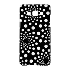 Dot Dots Round Black And White Samsung Galaxy A5 Hardshell Case