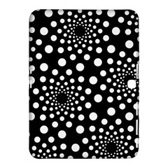 Dot Dots Round Black And White Samsung Galaxy Tab 4 (10.1 ) Hardshell Case