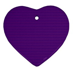 Pattern Violet Purple Background Ornament (Heart)