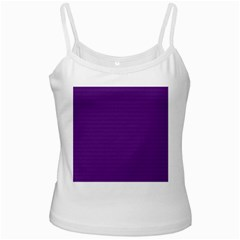 Pattern Violet Purple Background White Spaghetti Tank
