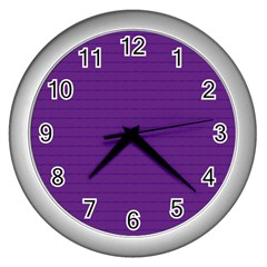 Pattern Violet Purple Background Wall Clocks (Silver)