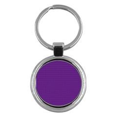 Pattern Violet Purple Background Key Chains (Round)
