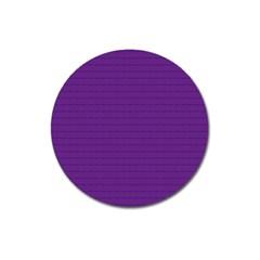 Pattern Violet Purple Background Magnet 3  (Round)