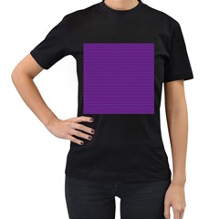 Pattern Violet Purple Background Women s T-Shirt (Black) (Two Sided)