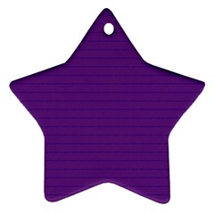 Pattern Violet Purple Background Star Ornament (two Sides)
