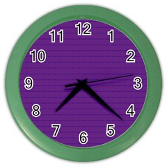 Pattern Violet Purple Background Color Wall Clocks