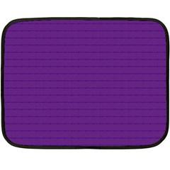 Pattern Violet Purple Background Double Sided Fleece Blanket (Mini)