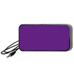 Pattern Violet Purple Background Portable Speaker (Black)