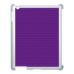 Pattern Violet Purple Background Apple Ipad 3/4 Case (white)