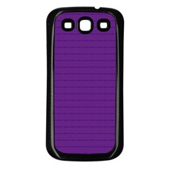 Pattern Violet Purple Background Samsung Galaxy S3 Back Case (black)