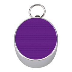 Pattern Violet Purple Background Mini Silver Compasses