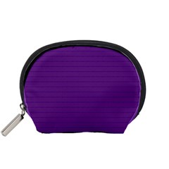 Pattern Violet Purple Background Accessory Pouches (Small)