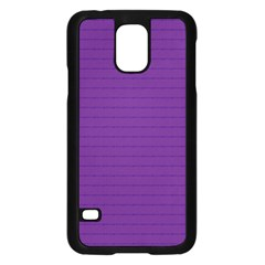 Pattern Violet Purple Background Samsung Galaxy S5 Case (Black)