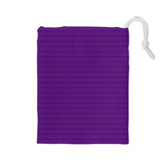 Pattern Violet Purple Background Drawstring Pouches (Large)